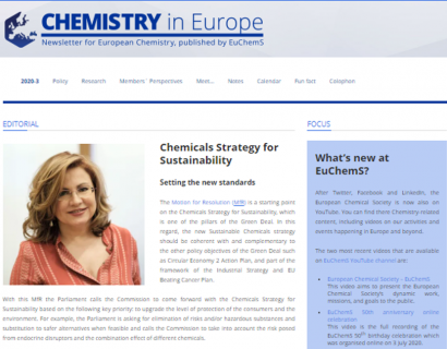 Chemicals Strategy for Sustainability: Setting the new standards