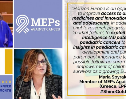 How can EU4Health and Horizon Europe programmes improve access to diagnosis, treatment and care for paediatric cancer patients?
